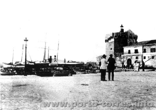 darsena e torre ai primi del '900