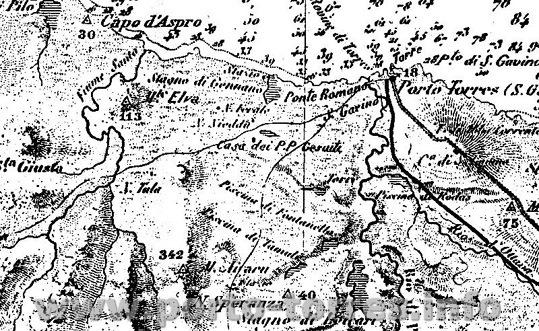 Particolare cartina del Generale La Marnora